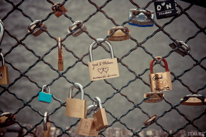 Love padlock - Pont des Arts, Paris, France